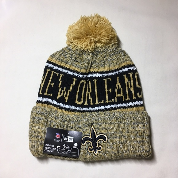 9ac8df27ef0 New Orleans Saints 2018 gold beanie hat